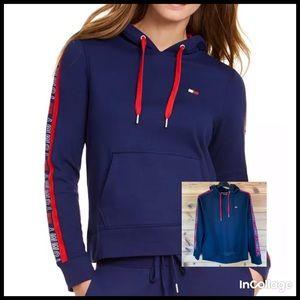Black Tommy Hilfiger hoodie Athletic sweatshirt